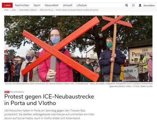 Protest gegen ICE-Neubaustrecke in Porta und Vlotho