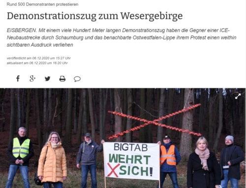 Demonstrationszug zum Wesergebirge